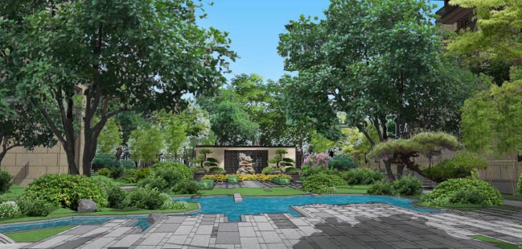 水庭景观效果图1