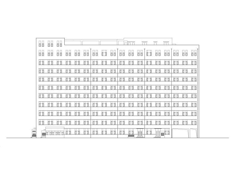 10层框架结构中医医院康复楼建筑施工图