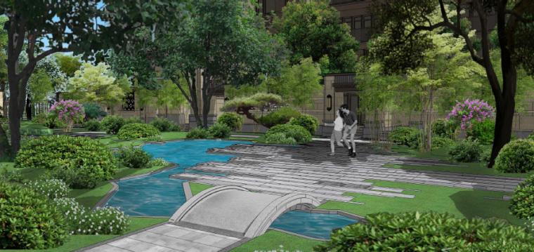 水庭景观效果图2