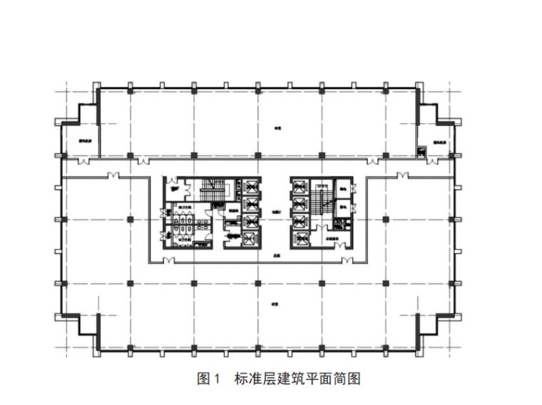 标准层建筑平面简图