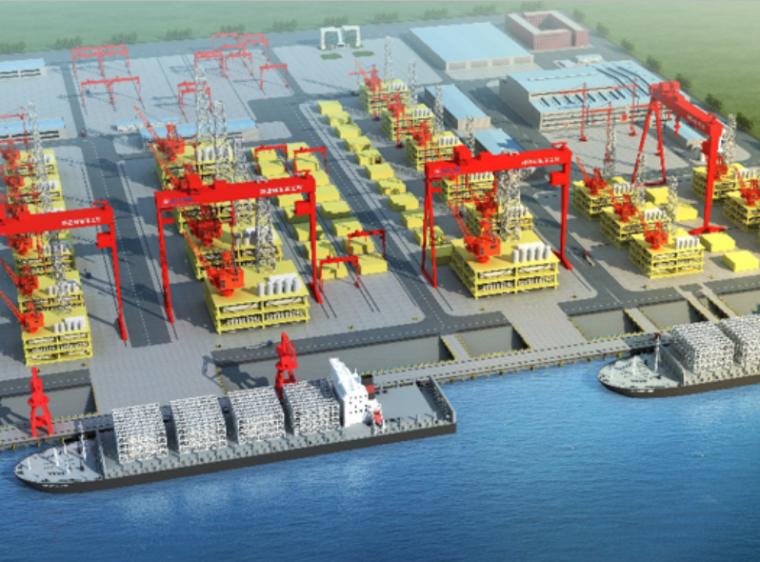 [天津]临港海洋重工建造基地码头工程(PPT)