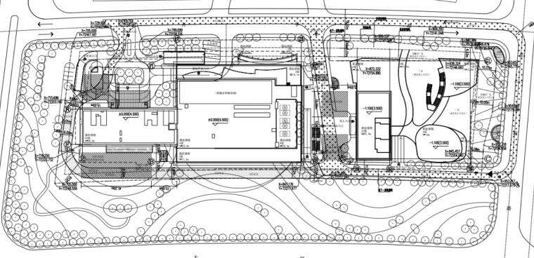 25层框剪结构商业酒店施工组织设计(287页)-02 建筑总平面图