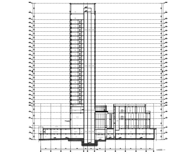 25层框剪结构商业酒店施工组织设计(287页)-03 商业剖面图
