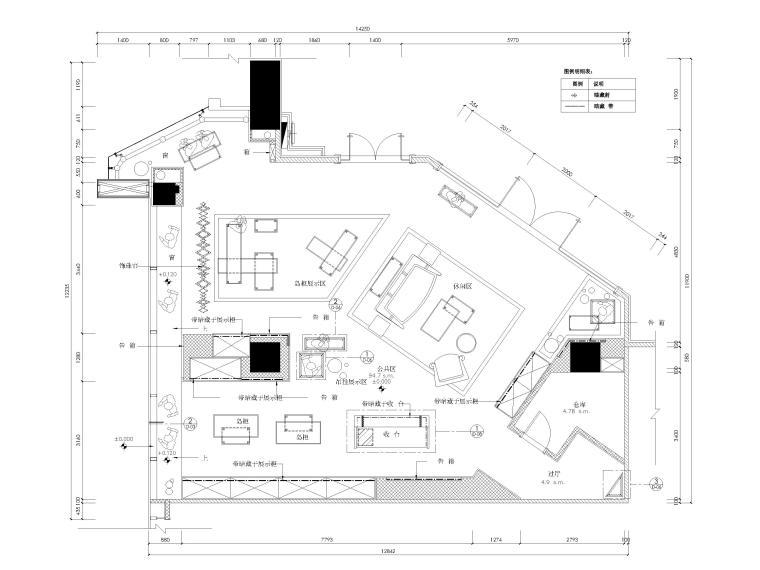 [广东]GUCCI奢侈品牌专卖店室内装饰施工图