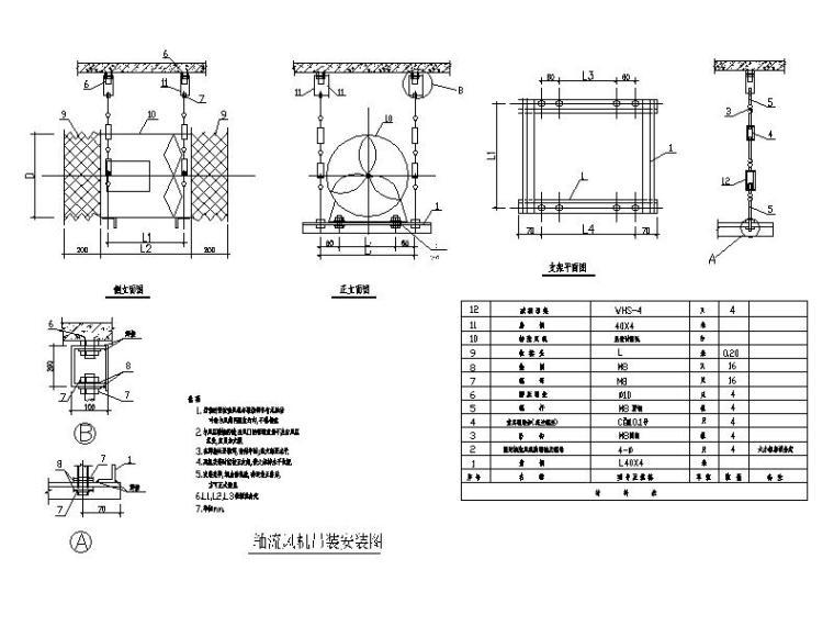 柴油发电机安装大样图资料下载-人防工程大样图_通风详图_设计说明