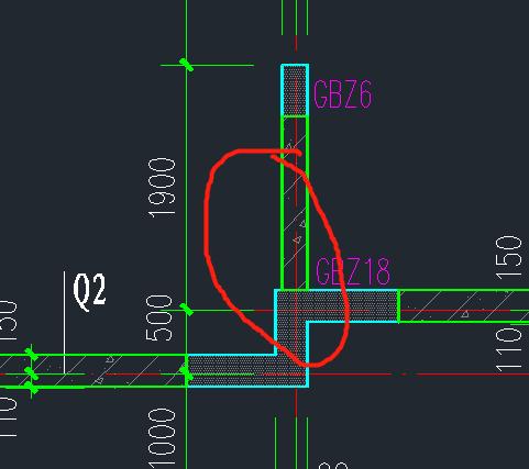 这个墙水平筋在这个构造边缘柱怎么算锚固,