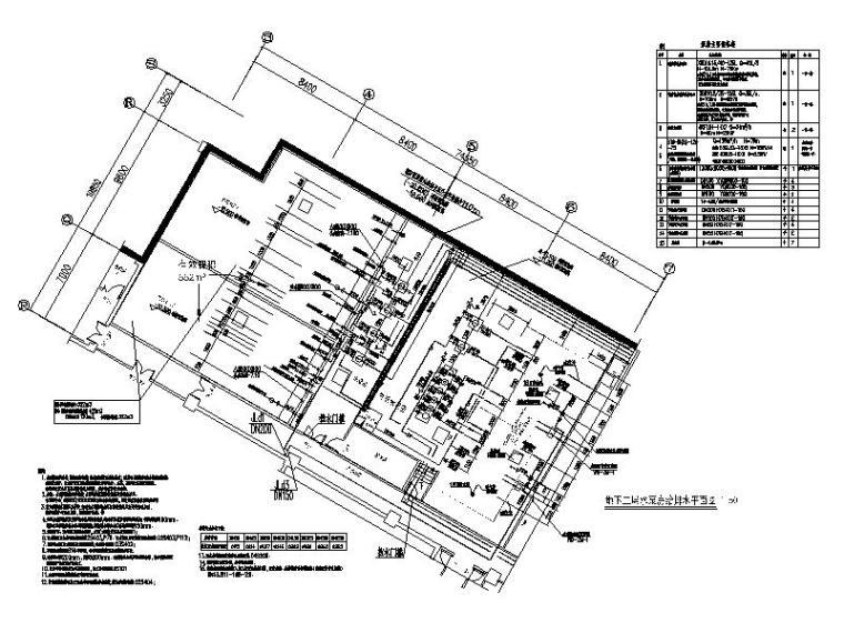 柴油发电机安装大样图资料下载-给水泵房大样图CAD