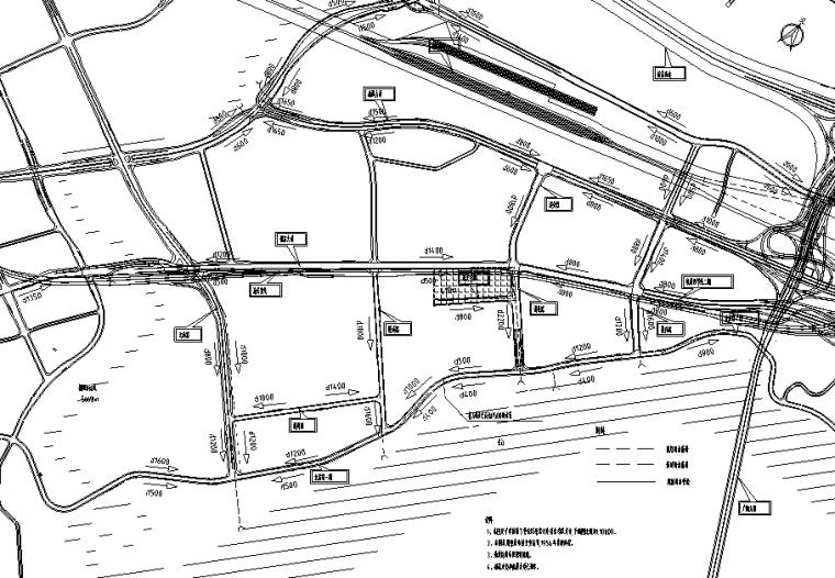 双向四车道380m城市支路排水电力工程设计图