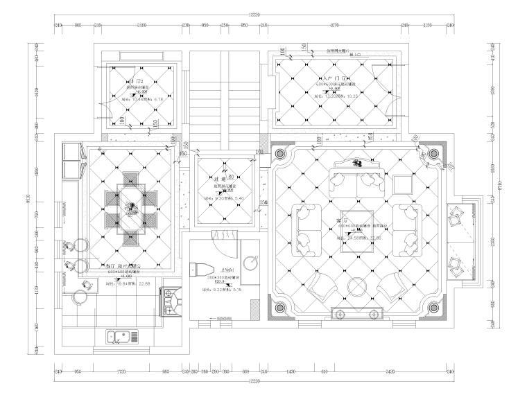 [湖南]325㎡欧式四居室三层别墅施工图+实景