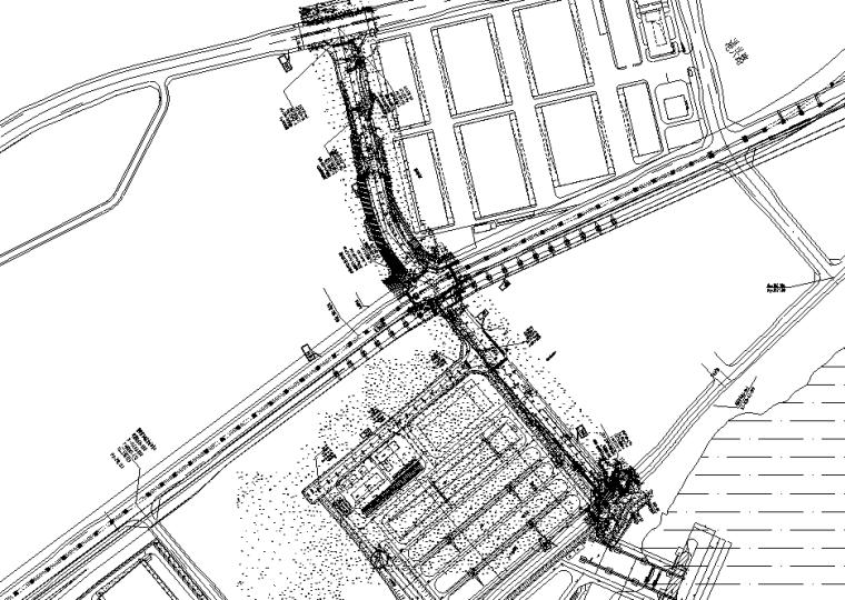 双向四车道380m城市支路道路交通工程设计图