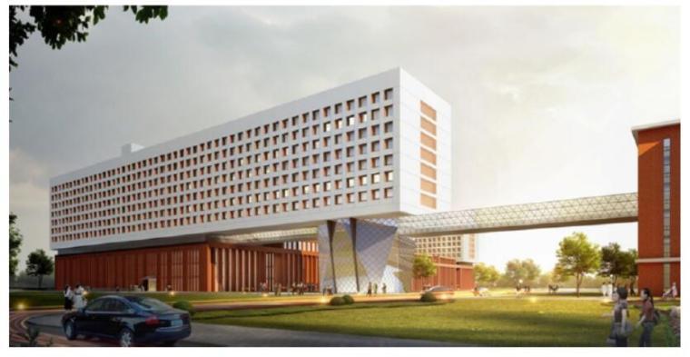 某医院行政楼高位桁架转换结构体系设计