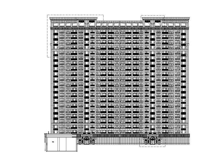 浙江中央公馆住宅立面施工图设计 (1)