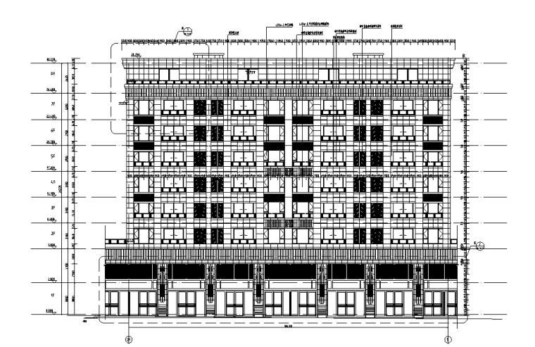 浙江中央公馆住宅立面施工图设计 (6)