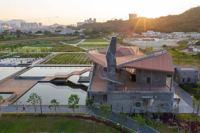 屋面景观塑木资料下载-南布净水站改造项目——坪山阳台