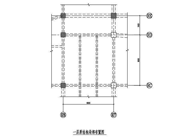 4层框架结构汽车体验中心加固改造施图2018
