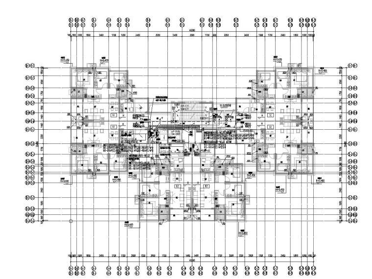[广西]高层住宅小区强电施工图