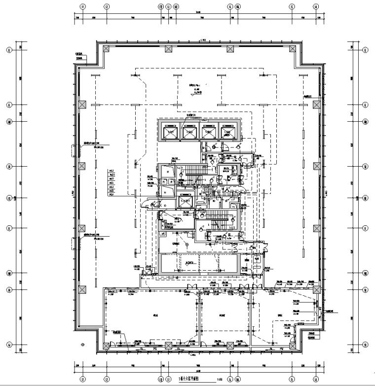 深圳超高层及配套高层办公楼强弱电施工图