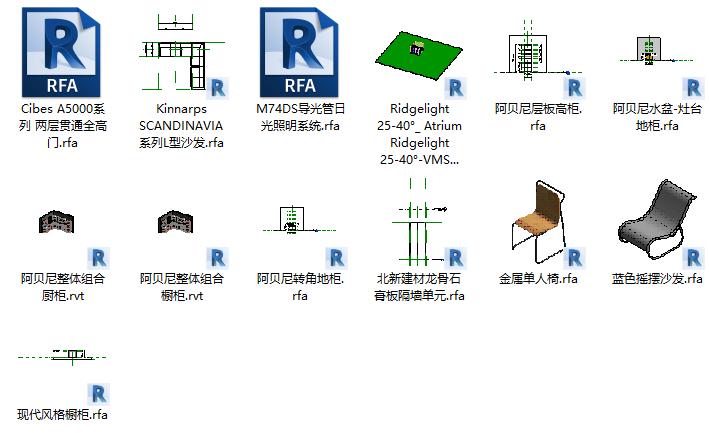 Revit建筑设计系统教程配套BIM构件