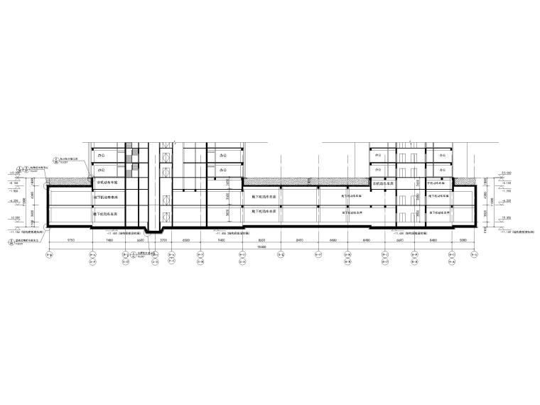 北京综合体地下室建筑施工图(车库商业设备)