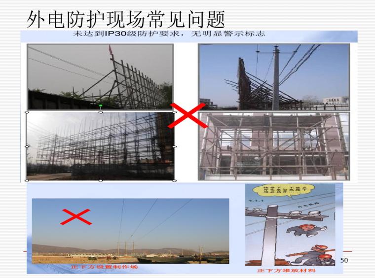 施工临时用电安全技术与管理培训PPT(206页)-07 外电防护现场常见问题