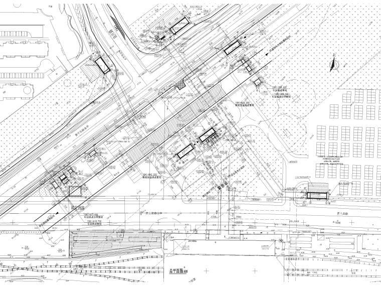 [北京]地铁八号线霍营站站口施工图+SU模型