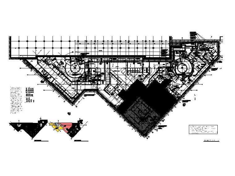 地下三层空调平面图(地铁B2F)