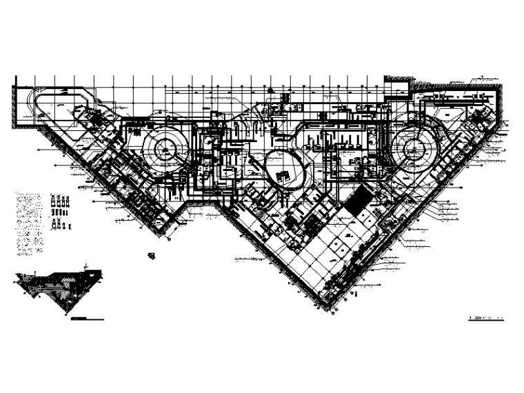地下二层空调平面图(地铁B1F)