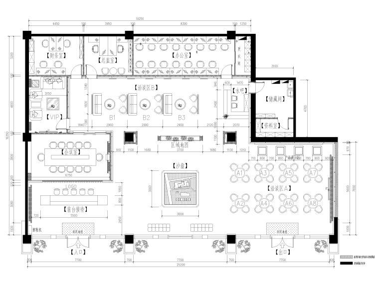 [北京]1026㎡售楼中心设计施工图+SU模型