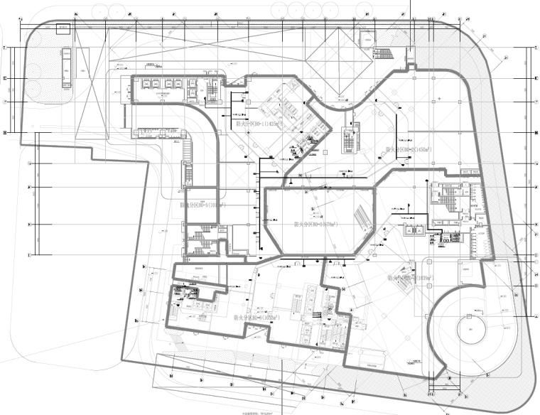 湖南超高层办公塔楼及配套商业水暖电施工图