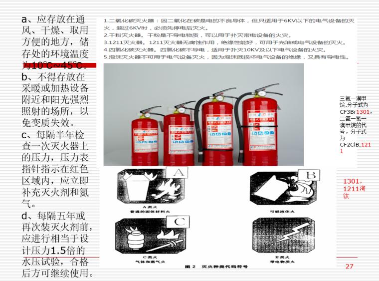 施工临时用电安全技术与管理培训PPT(206页)-03 灭火器