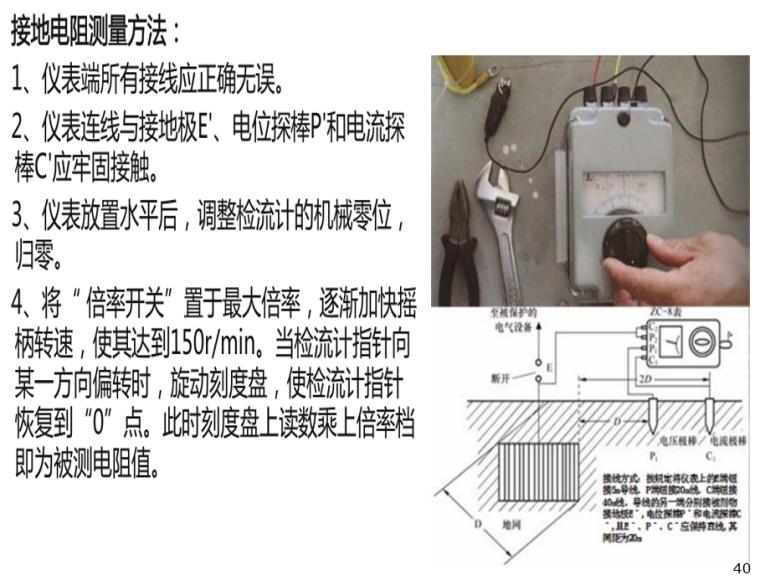 施工临时用电安全技术与管理培训PPT(206页)-05 接地电阻测量方法