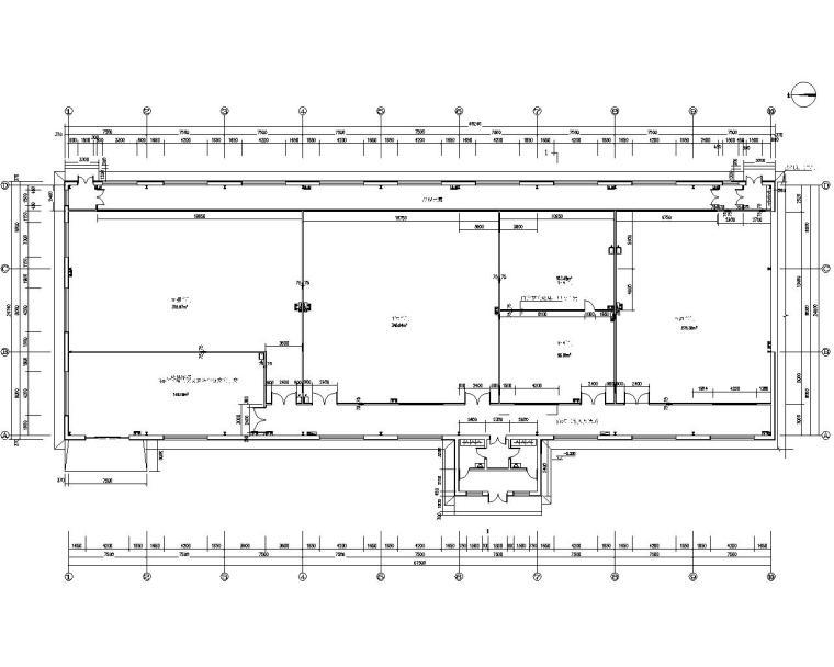 某轻钢厂房结构施工图(CAD含建筑水暖电)