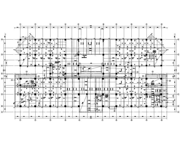 高层医院门诊楼混凝土结构施工图(CAD)