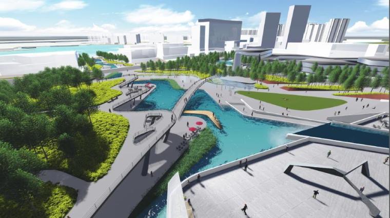 [湖南]长沙城市中轴线市民公园景观方案