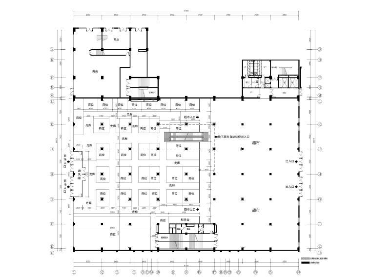 [河北]丰宁商场室内装饰工程施工图+SU模型