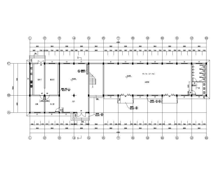 武汉二层办公楼混凝土结构施工图(CAD)