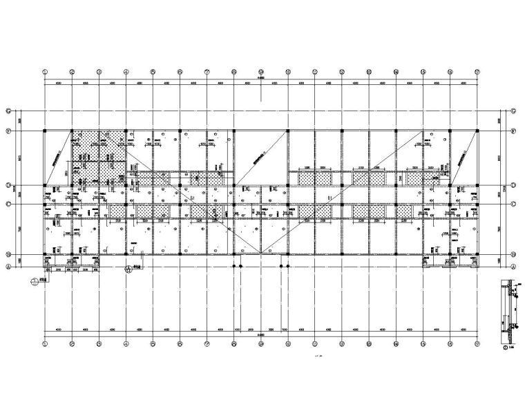 工厂四层办公楼混凝土结构施工图(CAD)
