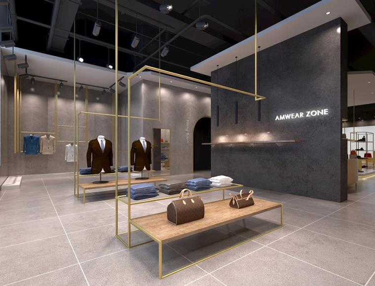 男装服装店室内设计案例效果图