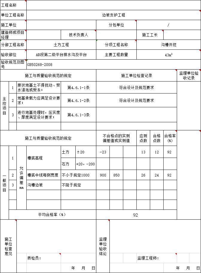 市政全套施工范本资料下载-市政边坡工程资料范本(含边坡专项施工)