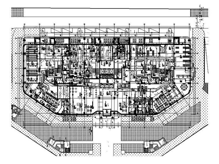 海口优联国际医院空调通风防排烟施工图设计