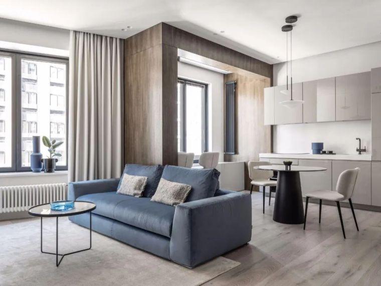 一梯四户小户型公寓平面资料下载-小户型的极致设计,颜值不输大宅