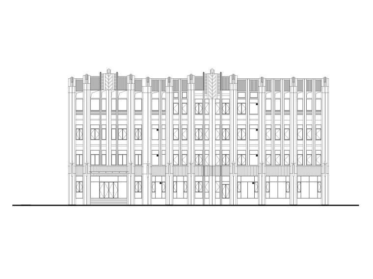 [上海]华漕镇四层框结结构办公楼建筑施工图