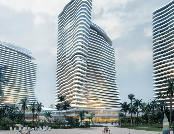 高层酒店建筑效果图PSD分层模板素材③_8套