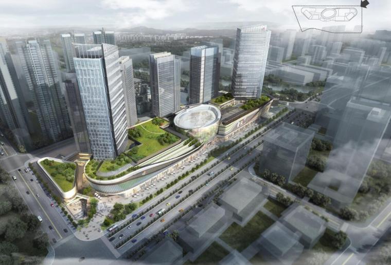 [四川]知名企业铁塔厂商业综合体立面设计