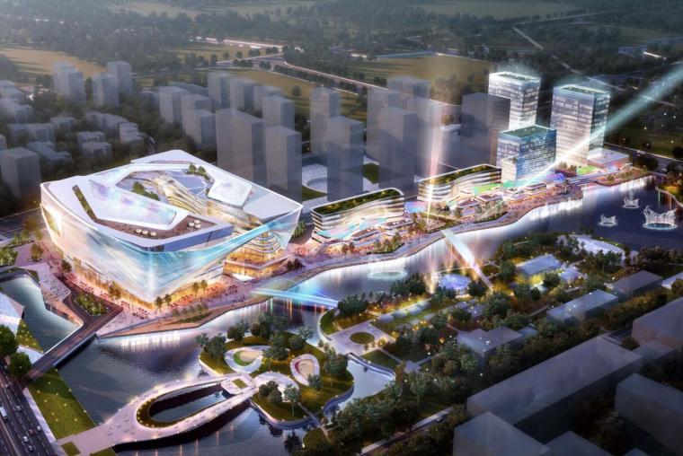 [浙江]现代流线商业综合体总体规划设计