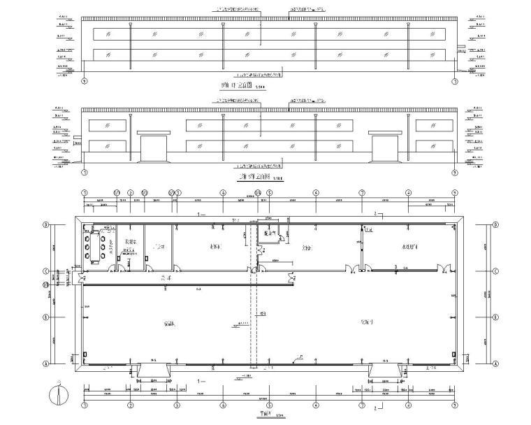 18米单跨轻钢厂房结构施工图(CAD)