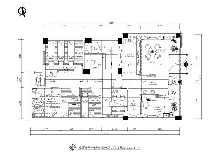 [福建]福州康颜女子养生馆室内施工图