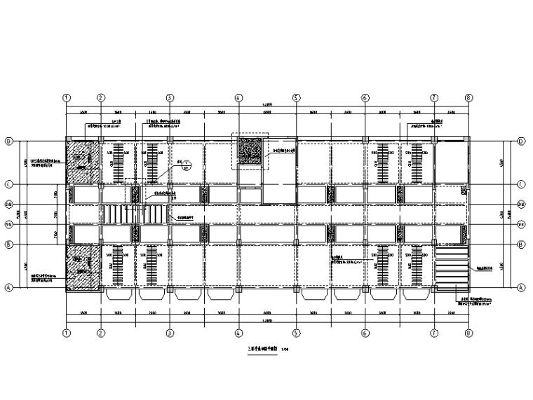办公楼加固改造图_增设钢梁碳纤维布植筋