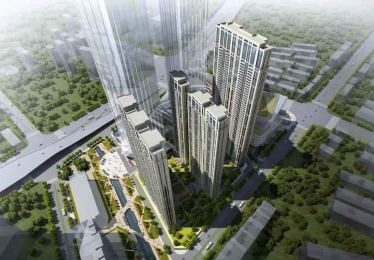 知名企业现代风超高层住宅建筑方案设计