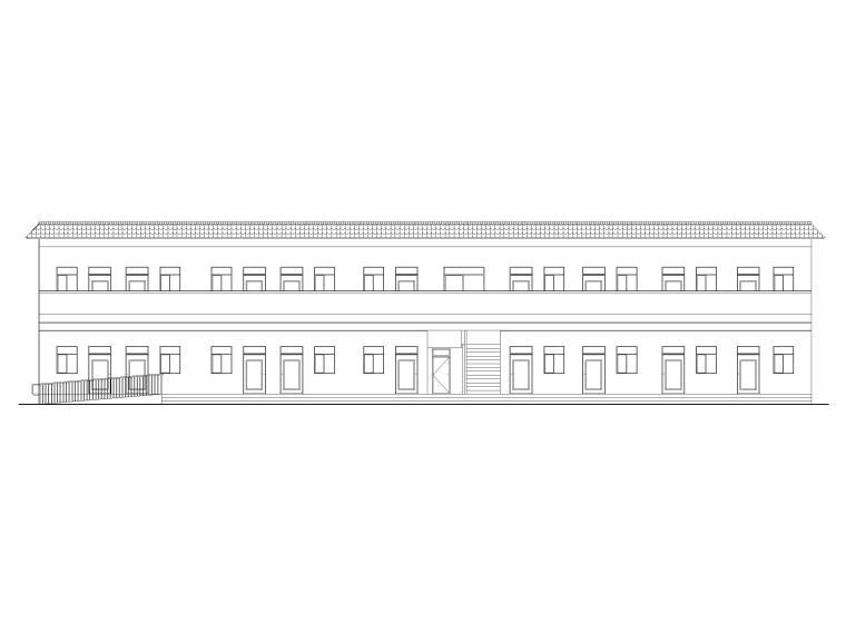 农村一层建筑施工图资料下载-农村社区基层组织活动场所建筑施工图